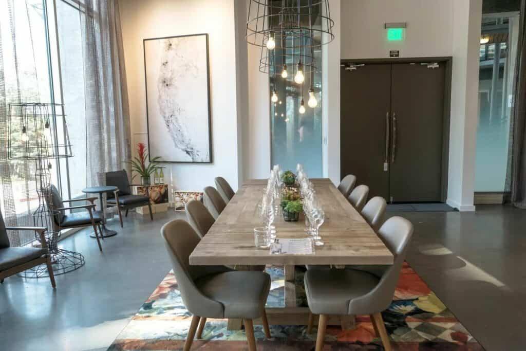 elegant wine tasting room