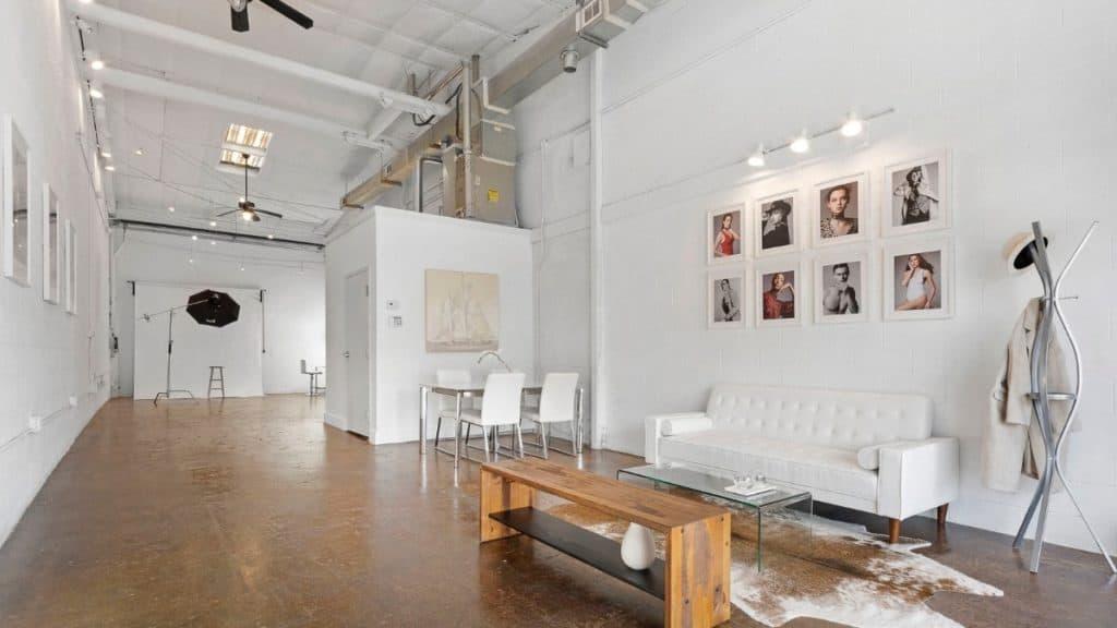 sleek minimalist photo studio atlanta rental