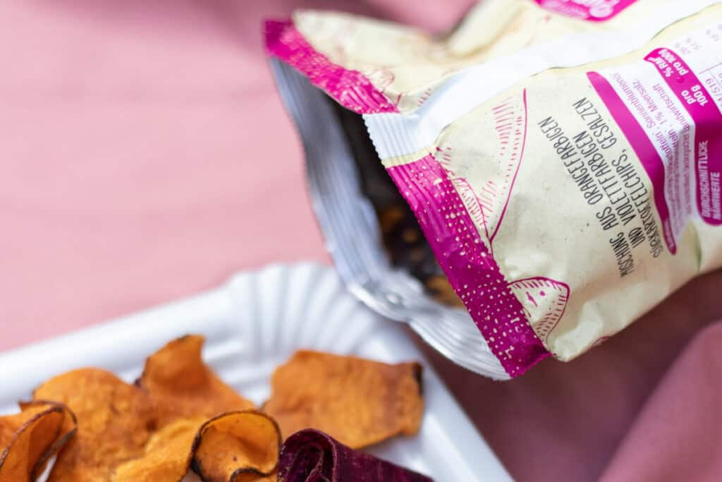 bagged chips portable snack