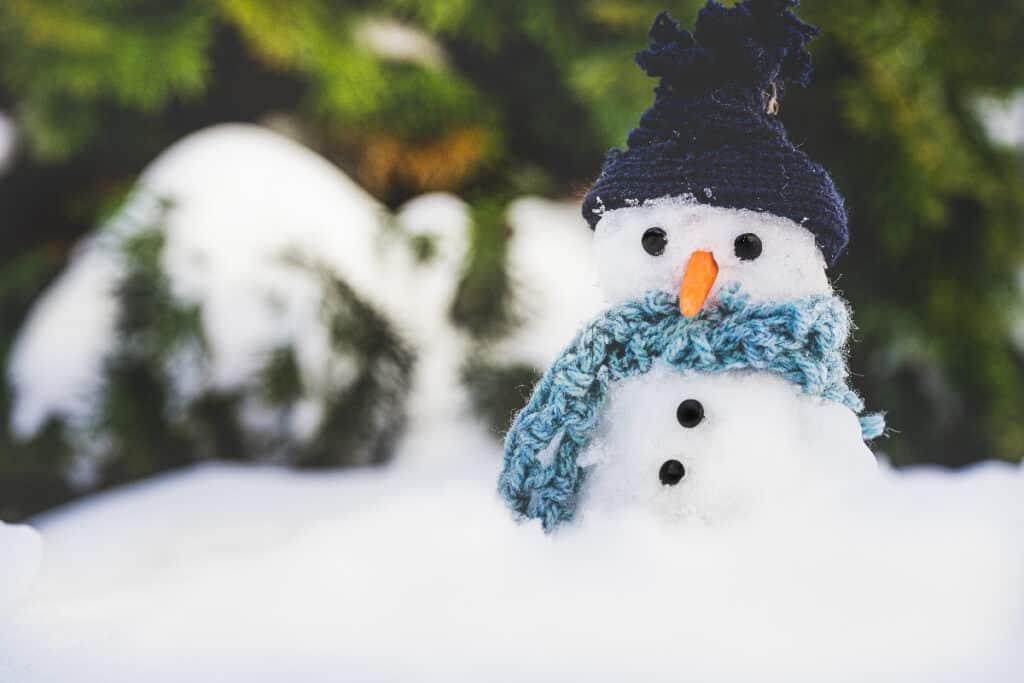 make snowman at frozen birthday party