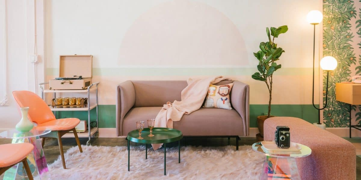 studio city dreamy pink and green room los angeles rental