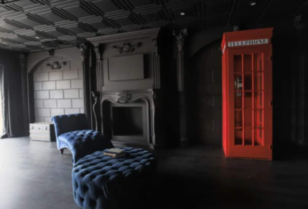 dark room with royal decor
