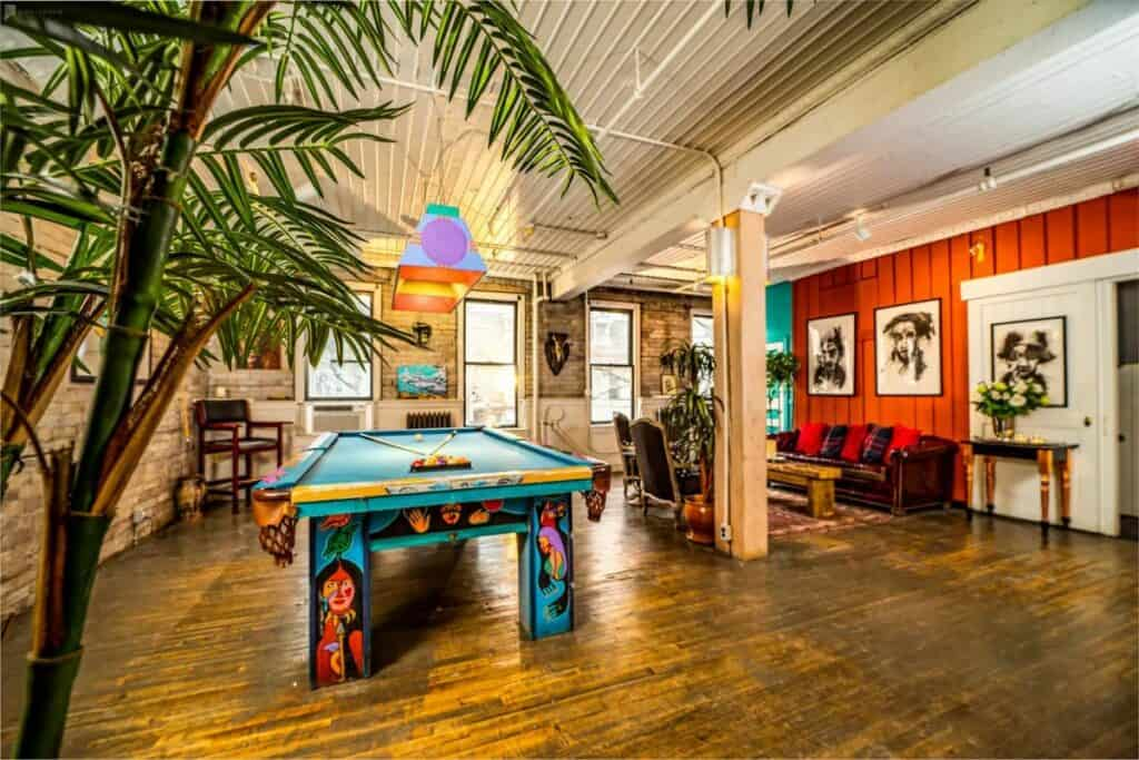 colorful eclectic production space