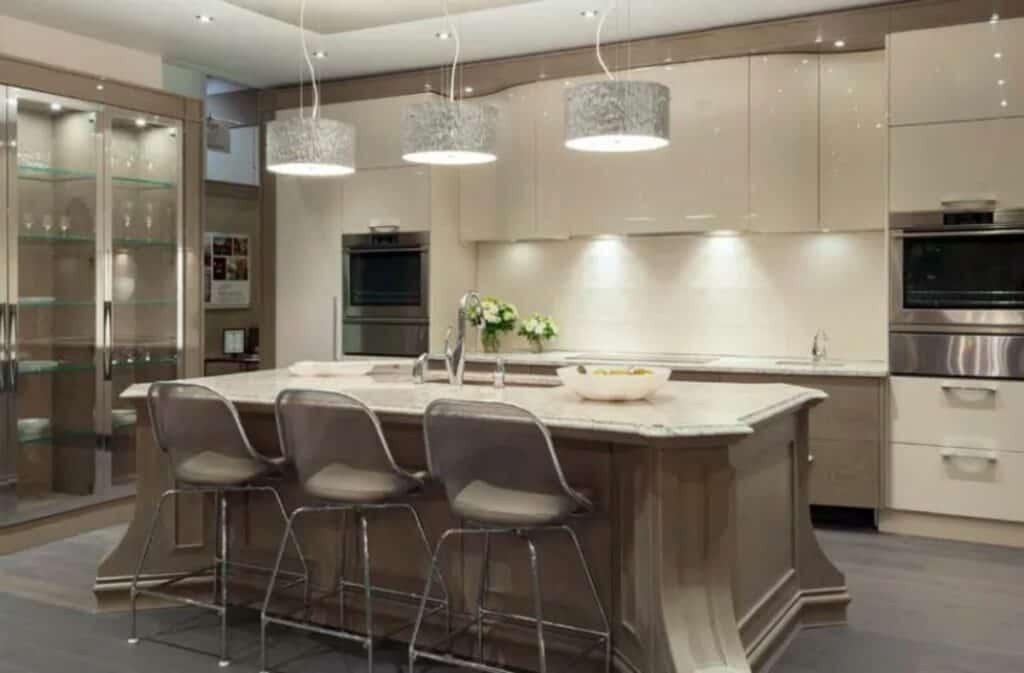 modern sleek kitchen rental
