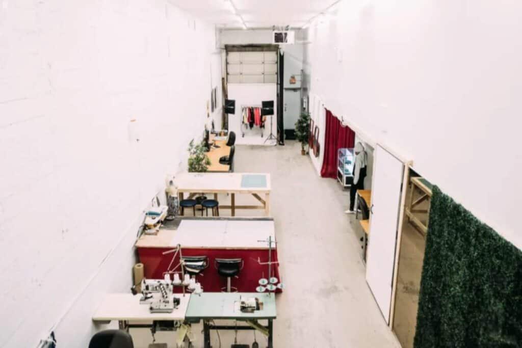 spacious minimalist event studio