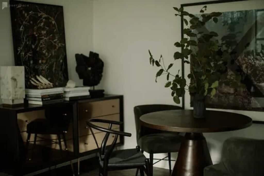 garden inspired studio loft space