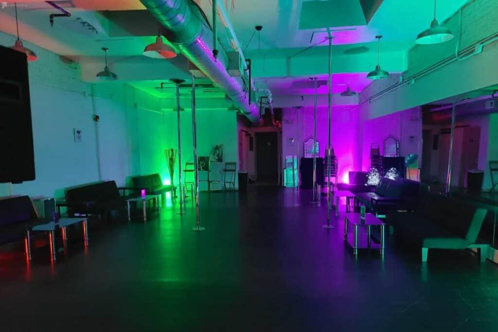 trendy dance studio and loft