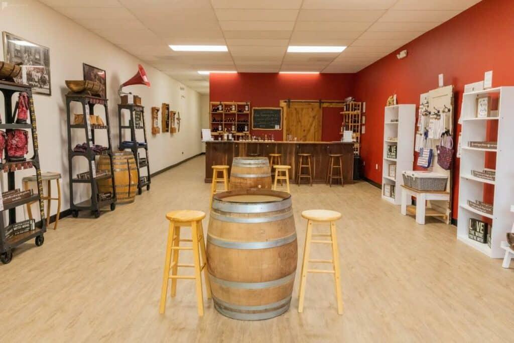 rustic micro winery in alexandria