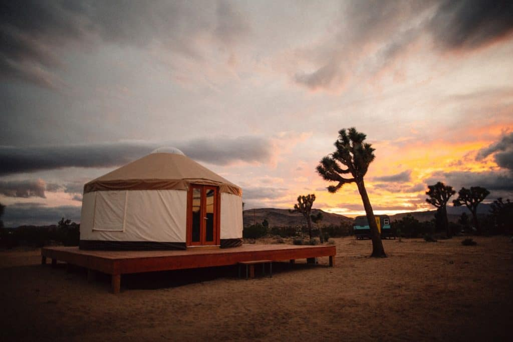 yurt pioneertown joshua tree national park yucca valley rental